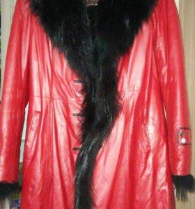 Зимнее пальто натуральное