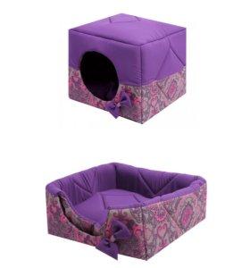 Домик-лежак Кубик-трасформер для животных