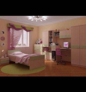 Кровать в модульную  детскую комнату