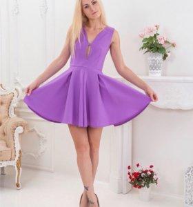 Шикарное лиловое платье