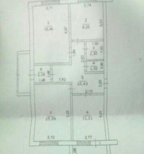 Продается3-к квартира 67 м²на 1 эт 4-эт.дома