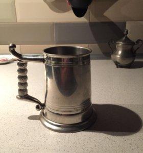 Английская пивная антикварная кружка