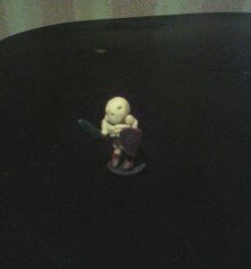 Скелет из пластилина