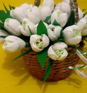 Цветы из конфеток  в подарок