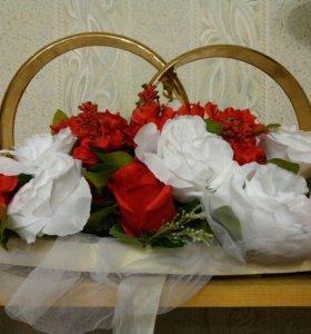 Свадебные украшения на машину и на церемонию