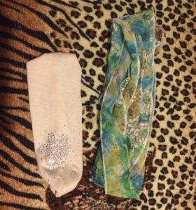 Летняя повязка на голову и шарфик