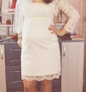 Продам гепюровое свадебное платье