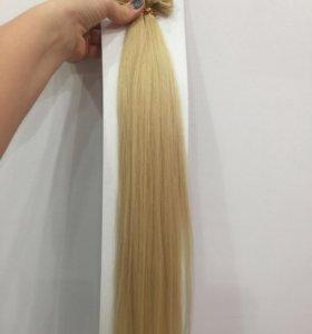 Волосы новые натуральные 100 капсул 57см