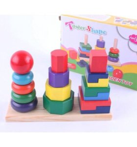 Деревянные пирамидки Tower Shape