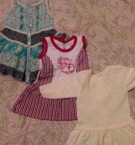 Платья для девочки 74-92