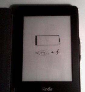 Электронная книга kindle , + кожаный чехол