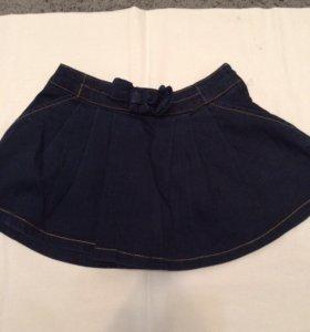Юбка джинсовая , рост 116