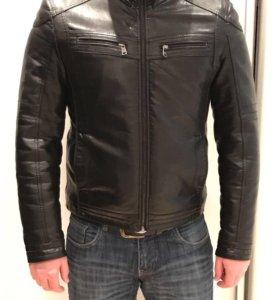 Кожаная куртка на меху, дубленка мужская