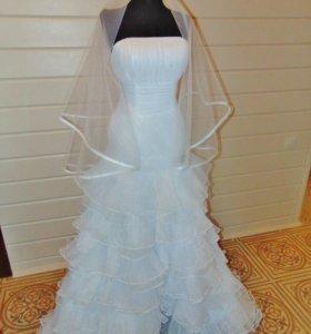 Новое свадебное платье и фата