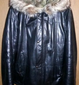 Куртка кожаная зимняя на меху