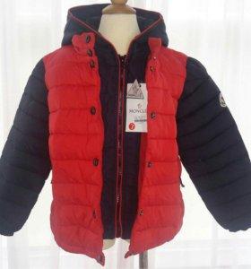 Новые брендовые куртки демисезон MONCLER 2-10 лет