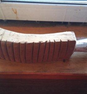 Утюг деревянный, рубель