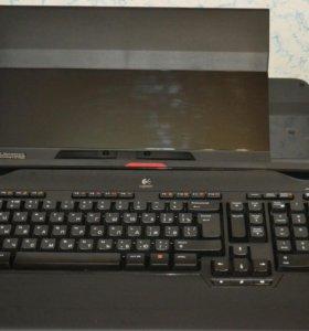 Подставка для ноутбука с беспроводной клавиатурой