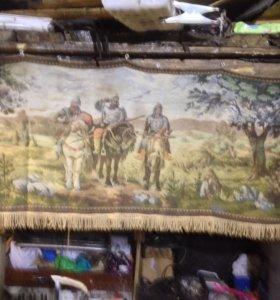 Три богатыря старинный Настенный ковёр СССР