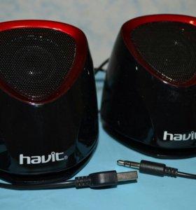 колонки Havit 2.0 2х3Вт