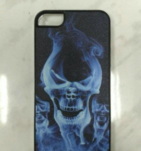 Защитная крышка для iPhone 5/5S Череп синий