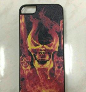 Защитная крышка для iPhone 5/5S Череп красный