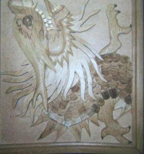 Японский дракон(натур.дерево)