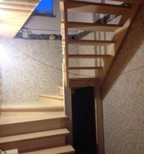 Деревянные межэтажные лестницы.
