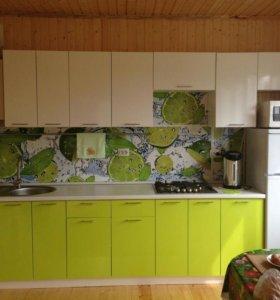Кухня Лайм/белый 3.4м