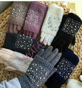 Черные перчатки новые