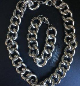 Ожерелье - цепь и браслет