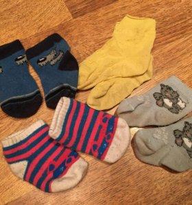 Носки на новорождённого