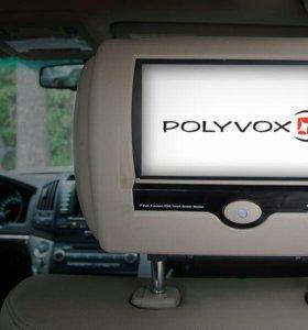 Подголовник-монитор Polyvox PAD-D10 с DVD