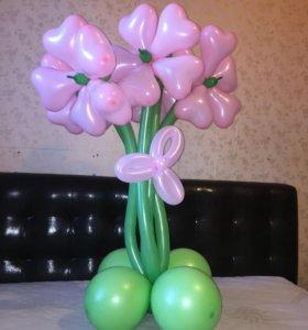 Красивые букеты из шариков