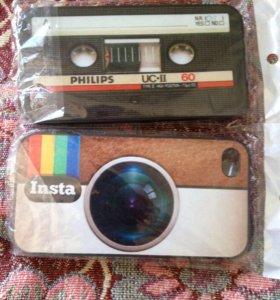 Чехлы на айфон 4,4s, пластиковые