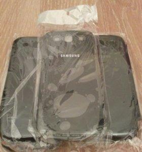 Samsung 3 и Samsung Doos Новый чехол книжка синий