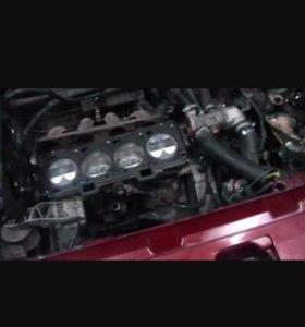 Ремонт двигателей и ходовой части.