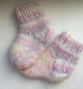 Новые носки детские вязаные шерсть 18-20 размер