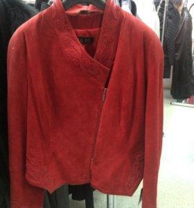 Куртка новая замша