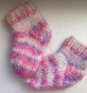 Новые носки детские вязаные шерсть 19-22 размер