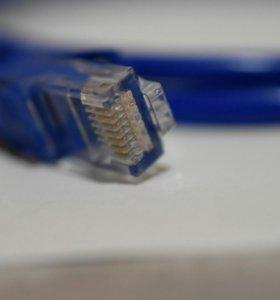 Интернет кабель, 1 метр. Новый с чеком