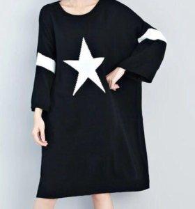 Толстовка , платье вязаное