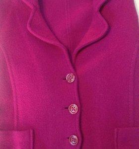 Пиджак шерстяной цвет яркой фуксии