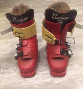 Лыжи  с горнолыжными ботинками
