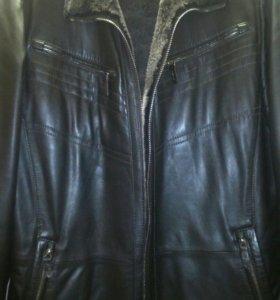 Зимняя  кожаная куртка .