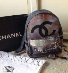 Женский рюкзак коллекции Chanel graffiti текстиль