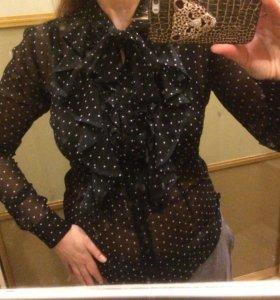 Блузка шифоновая в горошек