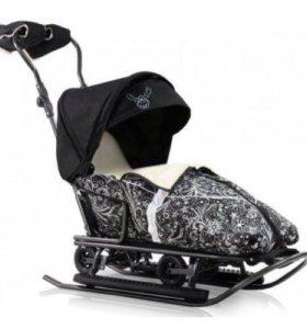 Nevada - санки коляска на колесах Польша