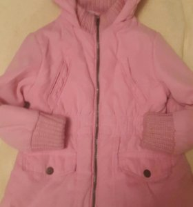 Шикарное пальто на девочку б/у