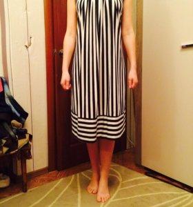 Новое платье летнее черно белое